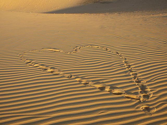 Desert Heart, Sand, Desert, Heart