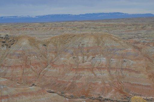 Mccullough Peaks, Wyoming, Desert, West, Blm, Cody