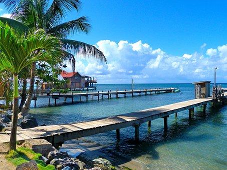 Honduras, Roantan, Island, Beach, Sea