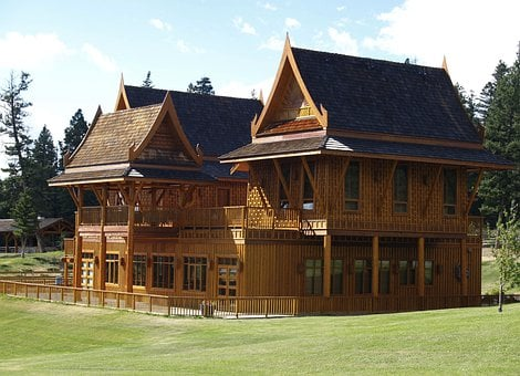 Echo Valley, Ranch, Building, Log House, Guest House