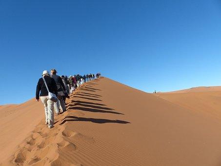 Sussusvlie, Dunes, Ascent, Tourists, Tourism, Desert