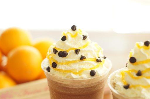 Desert, Whip, Whipped Cream, Orange Whip