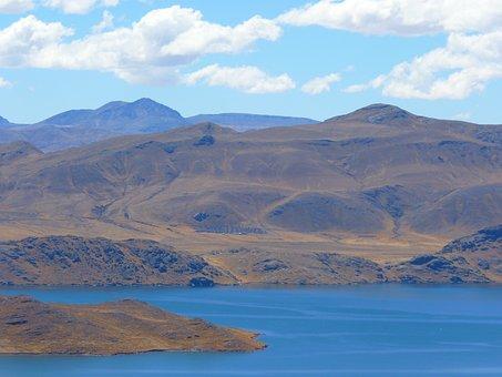 Peruvian Highland, Mountains, Peru, Lake, Altiplano