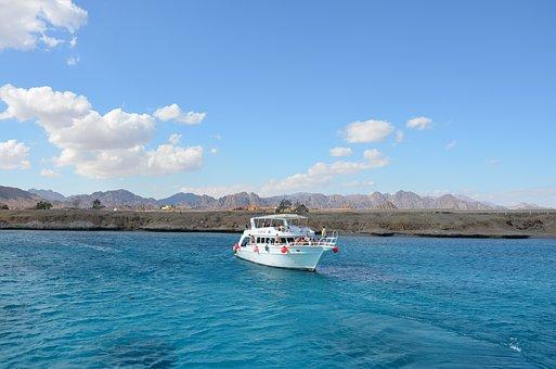 Ship, Sea, Red Sea, Water, Travel, Sinai, Nature, Blue