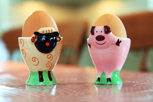 Boiled, Breakfast, Ceramic, Colorful, Cup, Egg, Eggcup