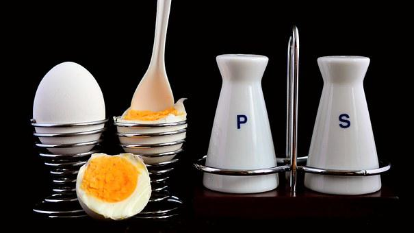 Egg, Egg Cups, Pepper And Salt, Salt Shaker, Metal