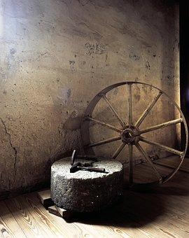 Wheel, Hammer, Millstone, Mill, Agriculture, Flour Mill