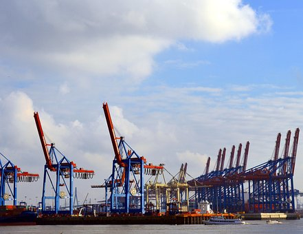 Crane, Cranes, Container, Loading, Cargo, Trade, Port
