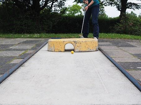 Mini Golf Club, Putten, Ball, Mini Golf Ball