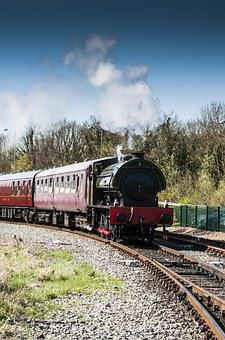Steam Train, Outdoors, Train, Steam, Locomotive, Travel