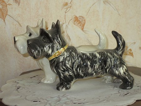 Dogs, Ceramic, Statues, Kitch
