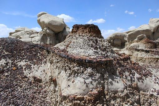Bistai Badlands, Landscape, Dry, New Mexico