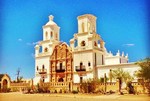 San Xavier Mission, White Dove, Architecture, Desert