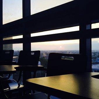 Classroom, School Chair, Arm Chair, Sunset