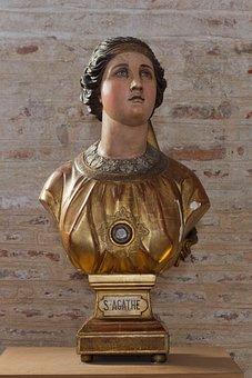 Basilica, Saint Sernin, Toulouse, Saint Agatha, Bust