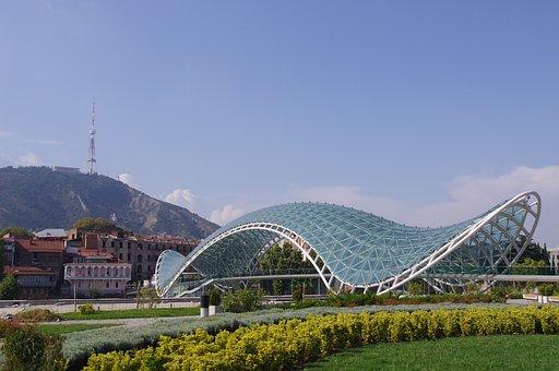Tbilisi, City, Capital, Georgia, Bridge, Mtkvari