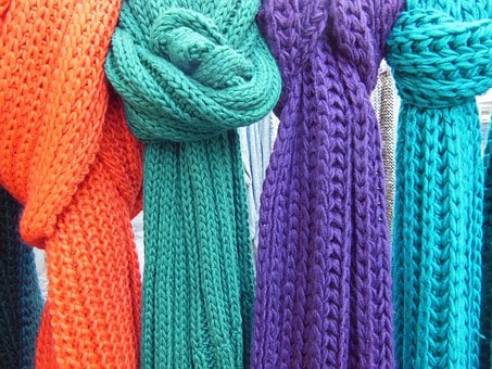 Scarves, Knitted, Knitted Scarves, Close-up