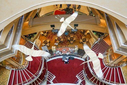 Cruise Ship Decoration, Birds, Design, Interior