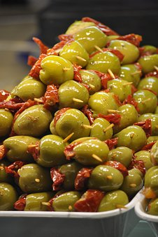 Stuffed Olives, Filling, Olives, Appetizer, Skewer
