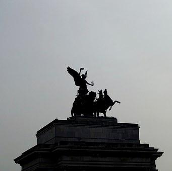 Marble Arch, London, Statue, Silhouette, Sculpture