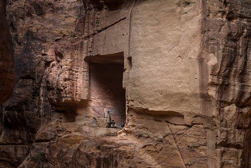 Jordan, Petra, Tomb, Mountain, Stone