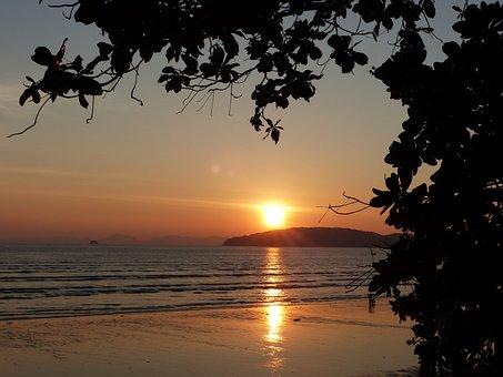 Sunset, Ao Nang Beach, Krabi, Thailand