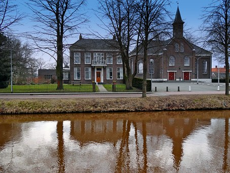 Stadskanaal, Netherlands, Church, House, Architecture