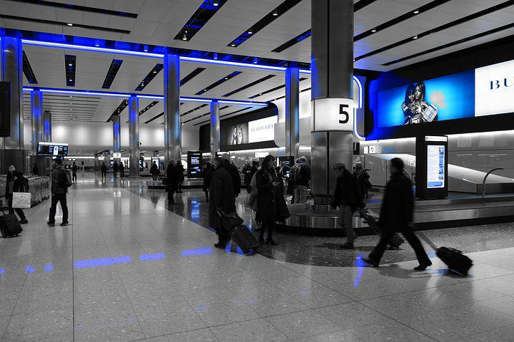 Baggage Hall, Heathrow, Airport, Terminal, Terminal 2