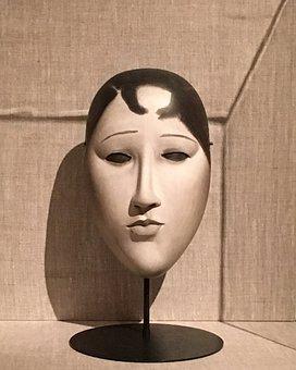 Japanese Mask, Young Woman, Mask, Japanese, Woman