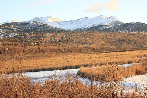 Anchorage, Alaska, Winter, Landscape, Snow, Frozen