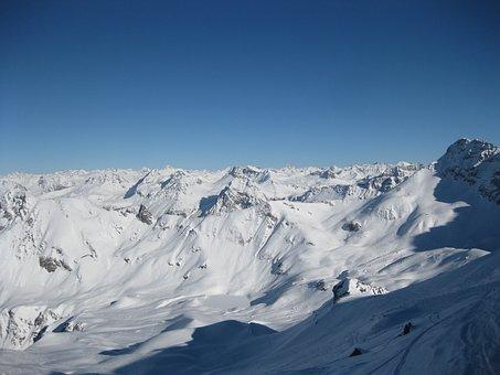 Snowcaped Mountain, Mountain, Landscape, Wilderness