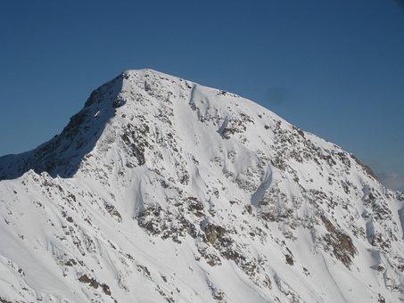 Snowcaped Mountain, Mountain, High Mountains, Landscape