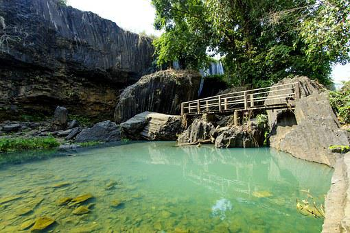 Waterfall, Water, Dray, Nur, Dak, Lak, Write, Male