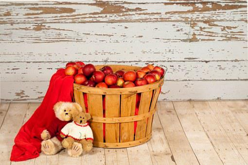 Apple Basket, Apples In Basket, Fall, Autumn