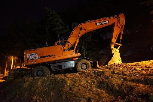 Excavators, Heavy Equipment, Fork Lane