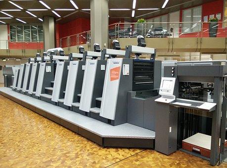 Press, Machine, Printing, Ink, Heidelberg, Industrial
