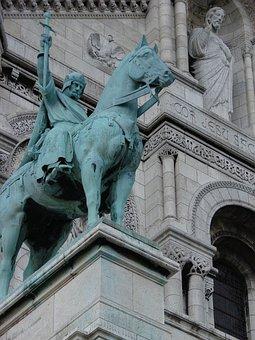 King Saint Louis, Statue, Paris, France, Sacre-coeur