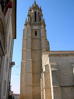 Ampudia, Colegiata De San Miguel, Spain, Tower, Church