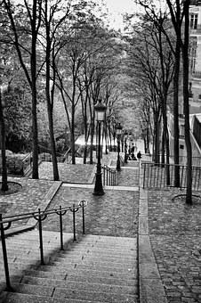 Paris, Montmartre, Stairs, Europe, France, City, Travel
