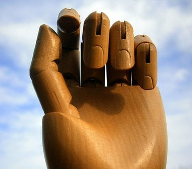 Hand, Finger, Links Hand, Wood, Joints, Joint, Art