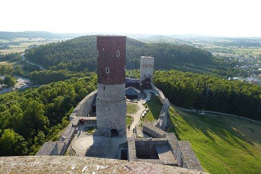 Castle, Checiny, Castle Checiny, Monument, Lake Dusia