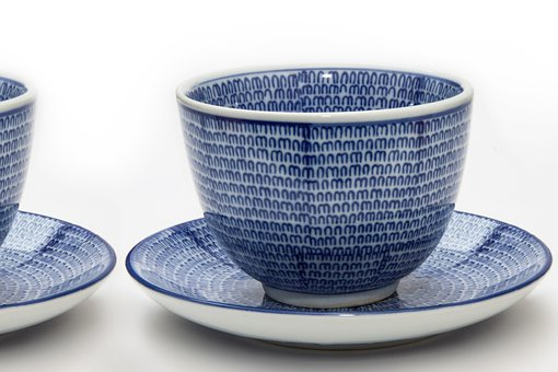 Cup, Saucer, Tee, Japanese, Porcelain, Pattern