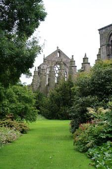Scotland, Edinburgh, Abby, Ruin, Garden, Britain