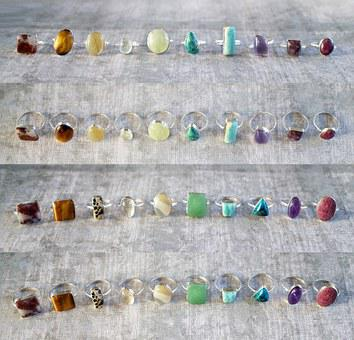 Colorful, Gemstone, Rings, Gem, Stone, Jewelry, Lot