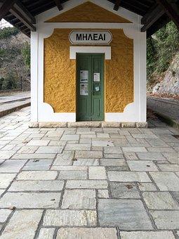 Train Station, Old, Railway, Historical, Greece