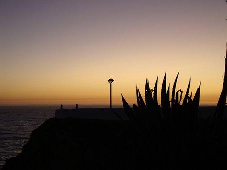 Zambujeira Do Mar, Alentejo, Portugal, Night, Mar, Pier