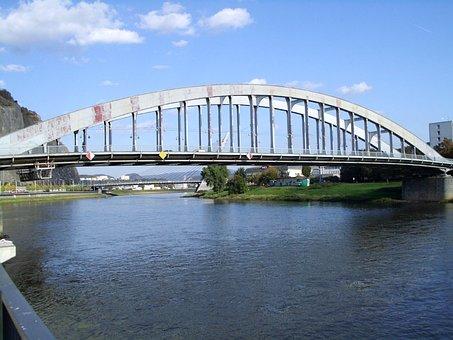 Bridge, Bridge Of Benes, River, Elbe, Water
