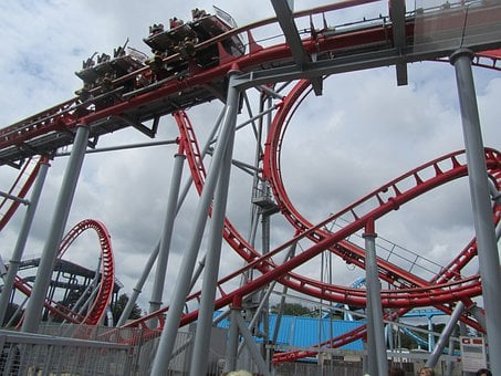 Roller Coster, Fun, Theme Park, Roller Coaster, Rides