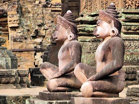 Cambodia, Angkor, Ruins, Temple, Bantai Krei, Guardian