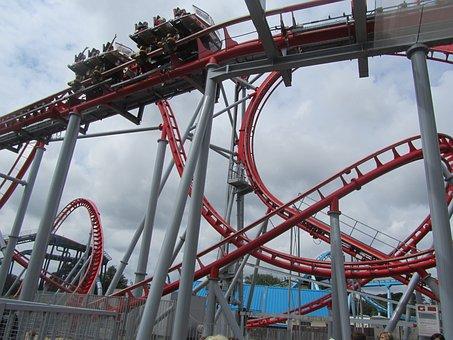 Roller Coster, Fun, Theme Park, Roller Coaster, Rides